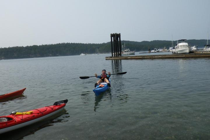 sea kayaking Pender Island British Columbia