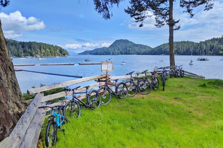 Bicycle rentals at Pender Island Kayak Adventures