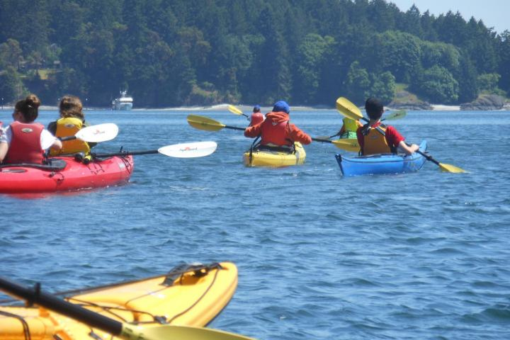 kayak pender island kids camp